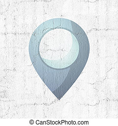 blue location point
