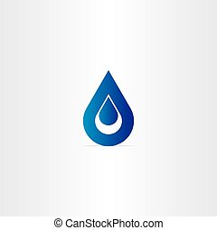blue logo drop of water icon