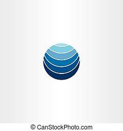 blue logo globe earth symbol element