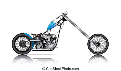 BLUE LONG CHOPPER