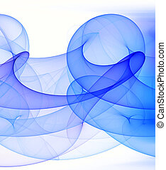 Blue loop abstract background. Digital generated this image