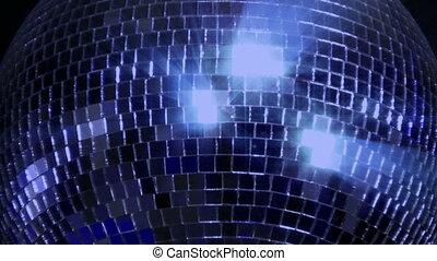blue loop mirror ball center glitte