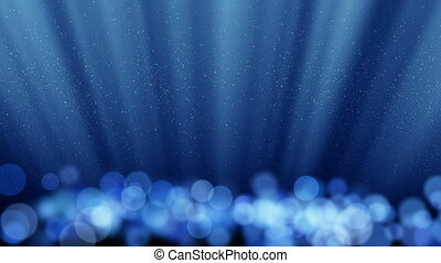 blue loopable background round ligh