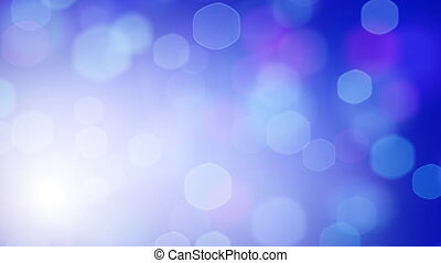blue loopable hexagonal bokeh light