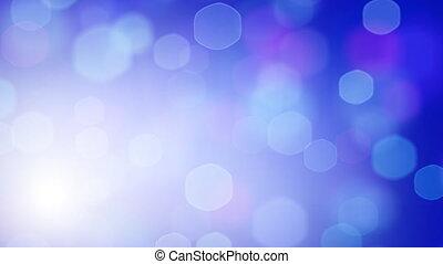 blue loopable hexagonal bokeh light