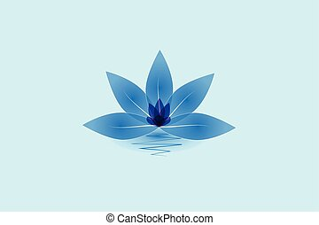 Blue lotus flower logo