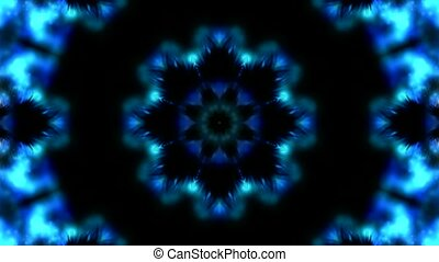 blue lotus flower pattern