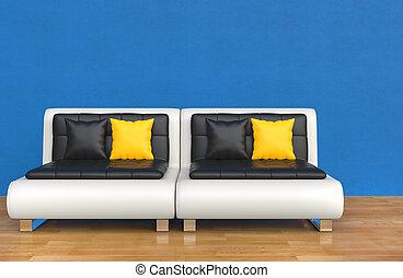 Blue Lounge Room