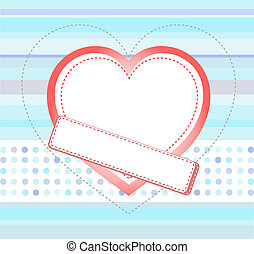 Blue love card with Wedding heart