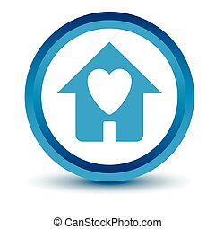 Blue Love house icon