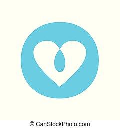 Blue Love Intersection Circle Symbol Design