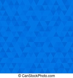 Blue Low Poly Background, Triangular Mosaic Abstract Seamless Pattern