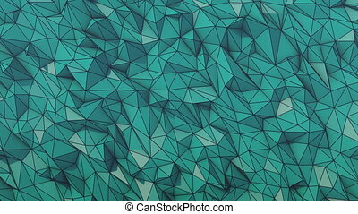 Blue low poly background wire frame
