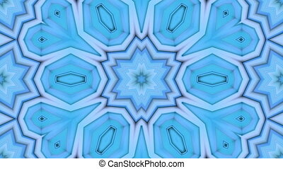 blue low poly geometric background as a moving stained glass...