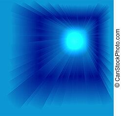 Blue luminous rays