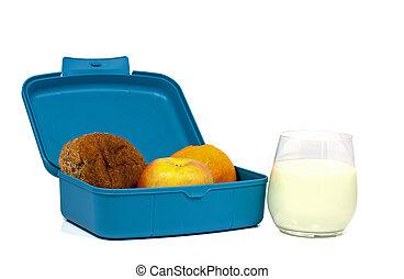 blue lunchbox