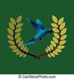 blue macaw  emblem