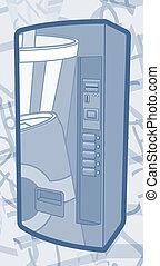 Blue machine - Creative design of blue machine