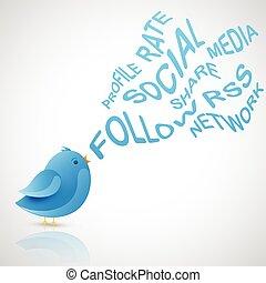 blue madár, társadalmi