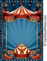 Blue magic circus poster