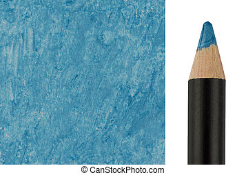 Blue Makeup pencil with sample stroke