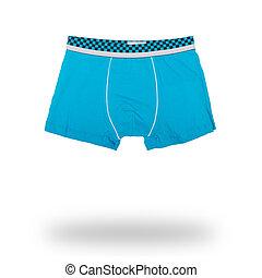 blue male boxer