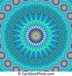 Blue mandala ornament vector background design