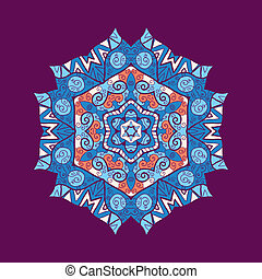 mandala ornament with space for your text. Vector image -...