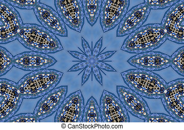 Blue Mandala Star