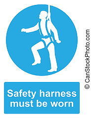 Blue Mandatory Sign isolated on a white background - Safety ...