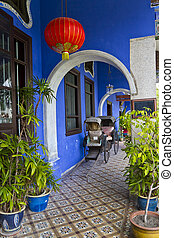 Blue Mansion - Cheong Fatt Tze's Blue Mansion in Georgetown,...