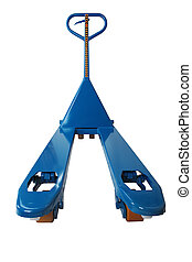 Blue manual forklift hydraulic pall - One pallet truck blue...