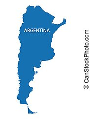 blue map of Argentina