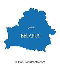 Blue map of Belarus