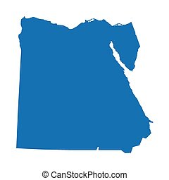 blue map of Egypt