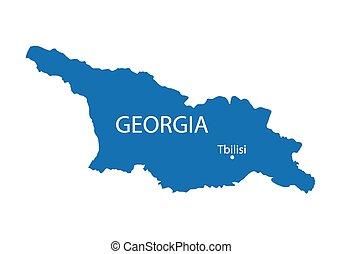blue map of Georgia