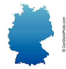 blue map of Germany