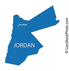 blue map of Jordan
