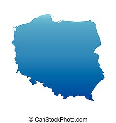 blue map of Poland