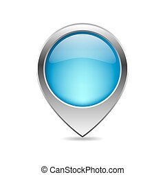 Blue map pointer - vector illustration.