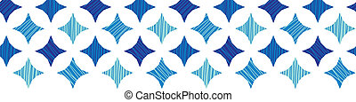 Blue marble tiles horizontal border seamless pattern background