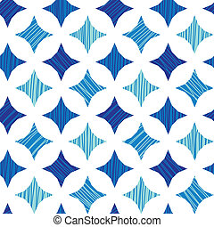 Blue marble tiles seamless pattern background - vector blue...