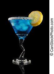 blue martini drink