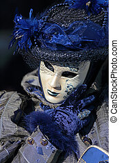 Blue mask at Carnival of Venice