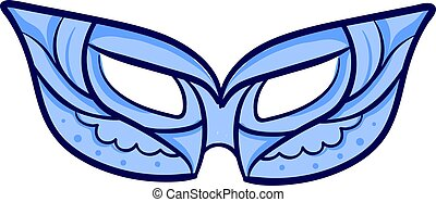 Blue mask, illustration, vector on white background.