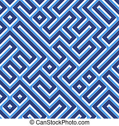 blue maze pattern with walls and corridors. tiles seamlessly