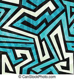 blue maze seamless texture with grunge effect