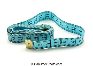 blue measure tape