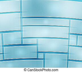 Blue Media Wall Background