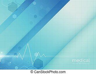 blue medical background design illustration